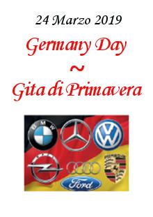 1. Germany Day – Gita di Primavera – Domenica 24 Marzo 2019