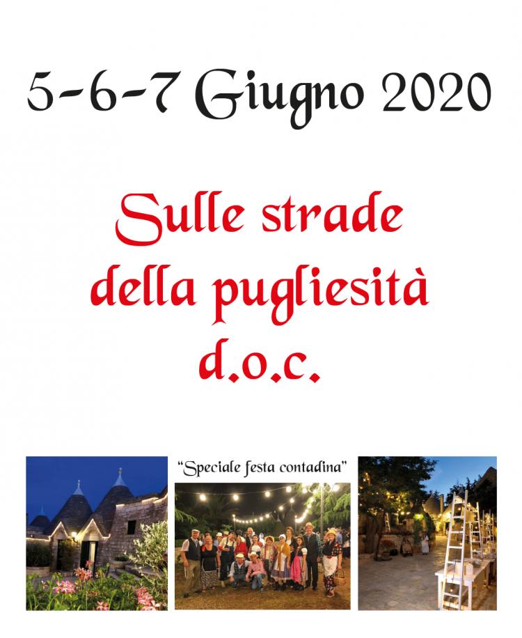 5. Sulle strade della pugliesità d.o.c. – 5/6/7 Giugno 2020