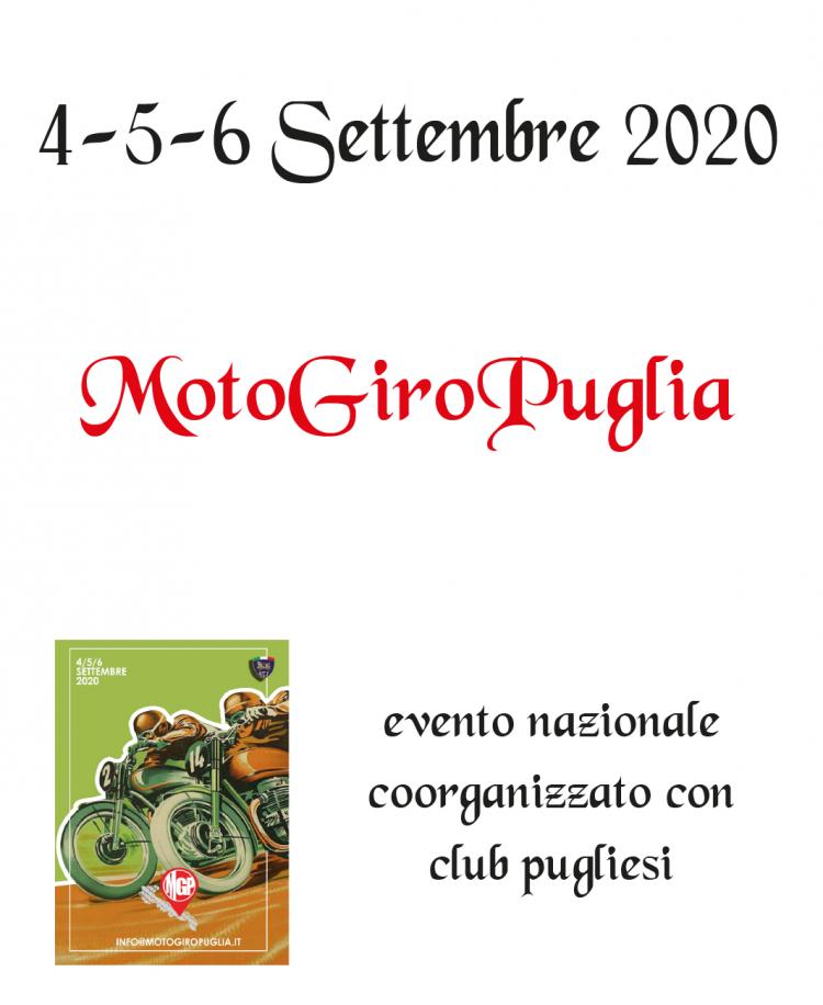 8. MotoGiroPuglia – 4/5/6 Settembre 2020